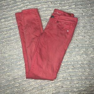 American Eagle Coral Skinny Jeans Size 0